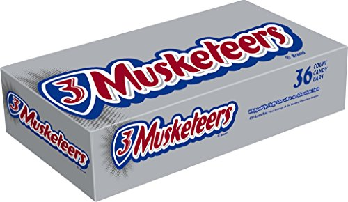 3 Musketeers Chocolate Candy (3 MUSKETEERS Chocolate Singles Size Candy Bars 1.92-Ounce Bar 36-Count)