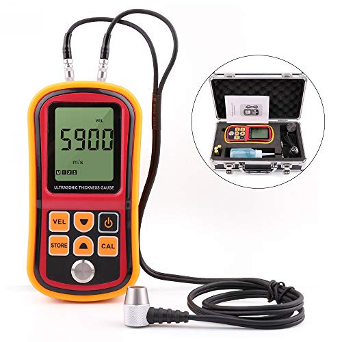 Ultrasonic Thickness Gauge, Digital Thickness Meter Tester, Range 1.2-220mm, with Hard Storage Box (Ultrasonic Meters Thickness)