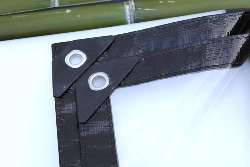 dimensioni : 4/×4M Telo In Plastica Ad Isolamento Termico Tele Chiaro Teloni Telo Trasparente Telo Impermeabile Per Impieghi Gravosi Con Anelli Di Tenuta 200 G//M/²