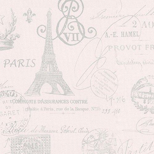 Carousel Designs Pink French Script Cradle Sheet