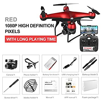 RONSHIN Drone 4k RC Quadcopter Dron con HD 1080P WiFi Cámara Video ...