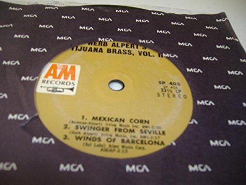 HERB ALPERT'S TIJUANA BRASS, VOL. II 45 RPM Mexican Corn / Swinger From Seville / Winds Of Barcelona / A-Me-Ri-Ca / Surfin' Senorita / Crea Mi Amor