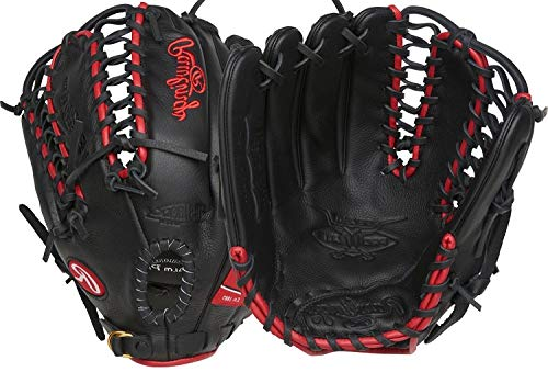 Rawlings Select Pro Lite Youth Left-Handed Baseball Glove, Black, 12.25