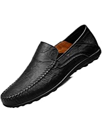 Men's Leather Loafer Slip-On Moccasin Shoes