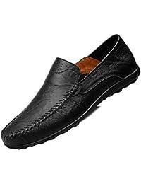 Men's Leather Loafer Slip-On Moccasin Shoes