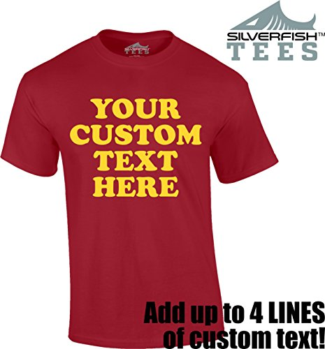 Customized Your Text Here Personalized Custom T Shirt Men Women Youth Adult Novelty