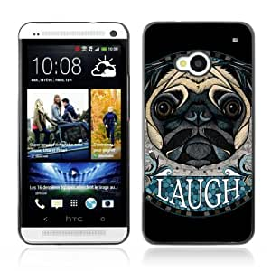 YOYOSHOP [Awesome Pug Dog Art Tattoo] HTC One M7 Case