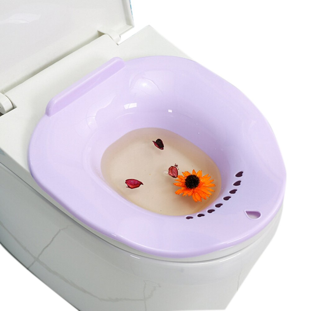 She-love Bath Hip Bath Tub Kit, Avoid Squatting for Pregnant Women, Hemorrhoids Patients on the Toilet (Purple) by She-love