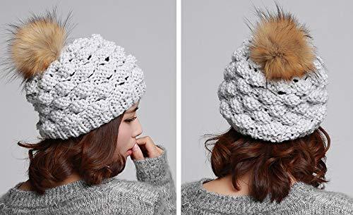 Woman Grigio Winter Acvip chiaro Warm Headwear Ananas Beanie Crochet aqwd0P