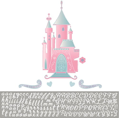 Roommates Rmk1785Gm Disney Princess Castle Peel And Stick Giant Wall Decal With (Princess Castle Wall)