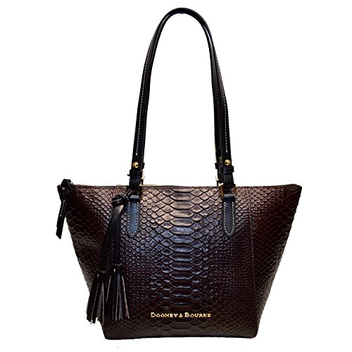 Dooney & Bourke Python Embossed Leather Maxine Tote ()
