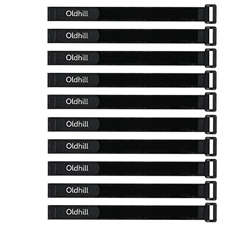 - Oldhill Hook and Loop Cinch Straps Adjustable and Reusable - 10 Pack (12