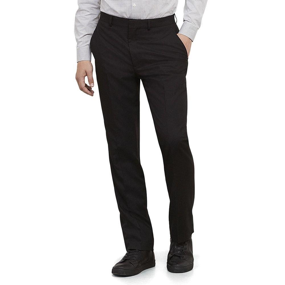 Kenneth Cole REACTION Men's Black Solid Suit Separate Pant, Black, 36x30