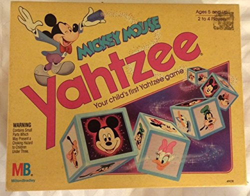 Mickey Mouse Yahtzee Game (1988 Edition) (Yatzee Board Game)