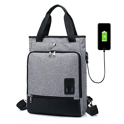 Sac à dos pour Hommes Femmes Sac à main SINOKAL Imperméable Sac a Dos PC Portable pour Loisirs Affaire Scolaire (Gris)