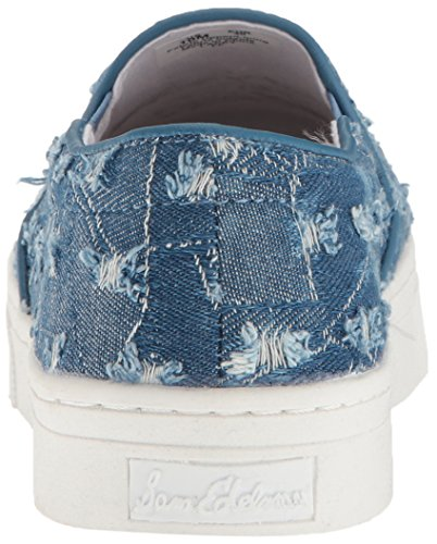 Women's Lacey Edelman Mid Sneaker Denim Blue Fashion Sam 5q4W15