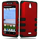 Red Tuff Shield Heavy Duty Protector Case for Huawei H881C Ascend Plus + Accessory Kit, Best Gadgets