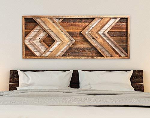 Amazoncom Reclaimed Wood Wall Art Chevron Decor Handmade