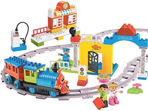 Minmi Motorized Train Set and Tracks Building Blocks - Battery