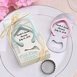 Personalized Flip Flop Bottle Opener Favors
