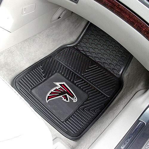 2 Piece Black NFL Atlanta Falcons Car Mats, Football Themed Floor Mats for Cars Trucks SUVs RVs Sports Pattern Team Logo Fan Merchandise Athletic Team Spirit Fan, Vinyl