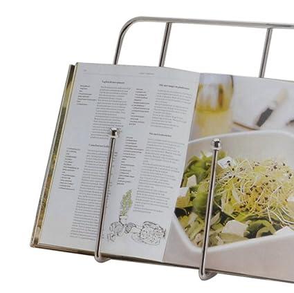 Elegante leggio da cucina in metallo, per libri, ricettari e ricette ...
