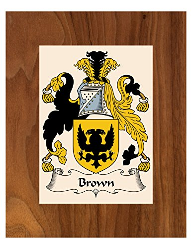 - Carpe Diem Designs Brown Coat of Arms/Brown Family Crest 8X10 Photo Plaque, Personalized Gift, Wedding Gift