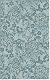 Brumlow Mills EW10242-40×60 Jacobean Floral Traditional Area Rug, 3'4 x 5′, Blue For Sale