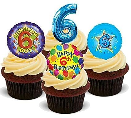 Outstanding Happy 6Th Birthday Boy Blue Mix Fun Novelty Premium Stand Up Funny Birthday Cards Online Ioscodamsfinfo