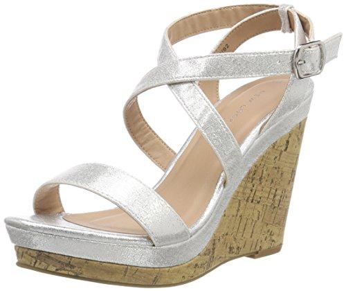 New Look WoMen Oiler 3 Open Toe Sandals Silver (Silver 92)