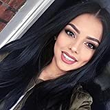 MERISIHAIR Women Wig Long Hair Wigs Heat Resistant Straight Wig Party Color Black Hair Wigs for American Women With Wig Cap