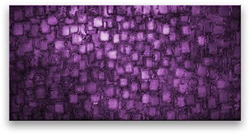Oil Painting Abstract Modern Contemporary Home Decor Art on Canvas Deep Purple by Matthew's Art Gallery