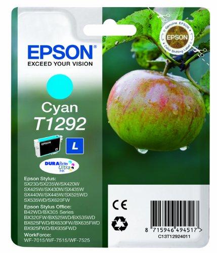 17 opinioni per Epson C13T12924012 Cartuccia Inkjet Ink Pigmentato Blister, Ciano
