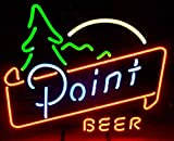 Point Beer Neon Sign 17''x14''Inches Bright Neon Light for Store Beer Bar Pub Garage Room