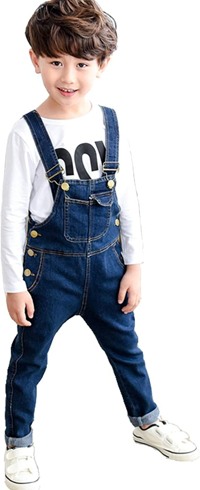 Amazon.com: OnlyAngel Boys' Suspender Jeans Adjustable Straps Cotton Denim  Overalls Age 4-13: Clothing