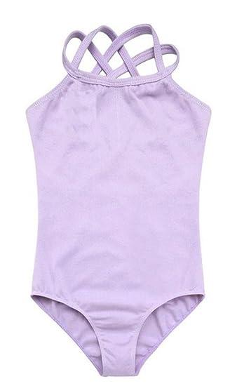 4309072148 BEllE-LILI Kids Girls Cute Strap Slim Solid Ballet Dancing Training Leotard  (5-