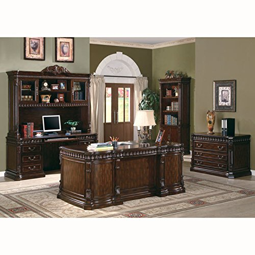 Coaster Home Furnishings 800801H Traditional Hutch, Walnut by Coaster Home Furnishings