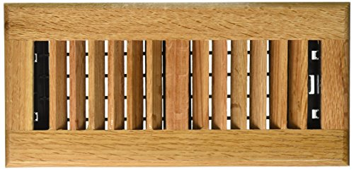Decor Grates WL410-N Wood Louver Floor Register, Natural Oak, 4-Inch by 10-Inch