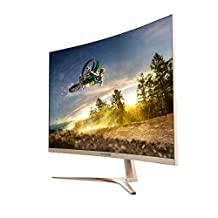 VIOTEK GN32Q - 32 Inch WQHD 144 Hz Curved Computer Monitor - 2560x1440p, FPS/RTS Optimized w/ Crosshairs Functionality