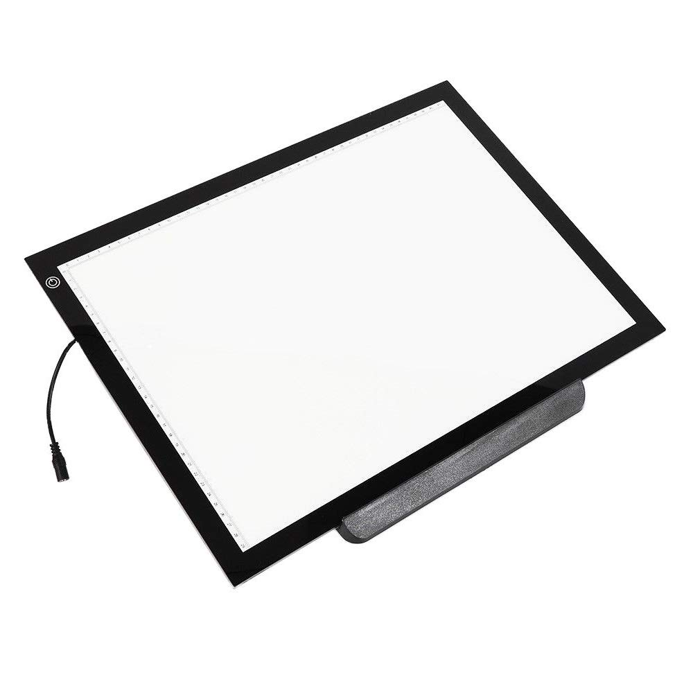 WUPYI Portable A3 LED Light Box Trace,Ultra-Thin Light Board Tracing Drawing Holder Stand,Drawing Tattoo Board Pad,Adjustable Brightness Eye-Protected,for Cartoons,Tattoos, Arts,Design