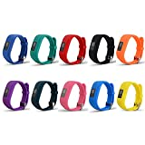 Garmin Vivofit 3 Accessory Bands Pinhen Replacement Sport Colourful Band With Plastic Clasps For Garmin Vivofit3 Activity Tracker Wireless Wristband Bracelet (10pcs Set)