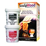 SYSTEM THREE 8 oz. Sculpwood Two Part Epoxy Putty Kit with 4 oz. Resin and 4 oz. Hardener