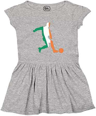 Cute Rascals Soccer Player Ireland Short Sleeve Taped Neck Girl Cotton  Toddler Rib Dress 253c6f046