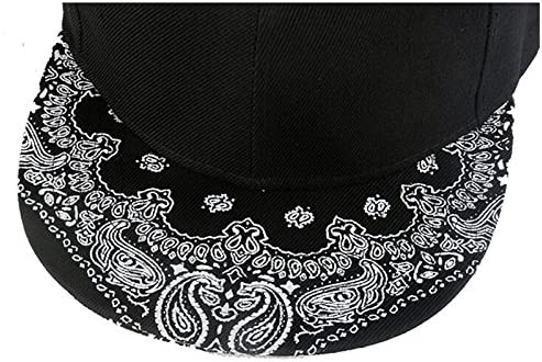 Coromose Paisley Black Snapback Bboy Hiphop Hat Adjustable Baseball Cap Unisex