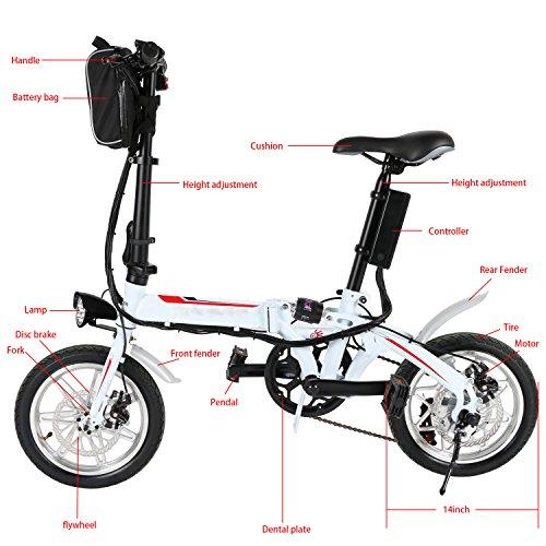 Asatr Mini Folding Electric Bike E Bike With 14 Inch Wheel