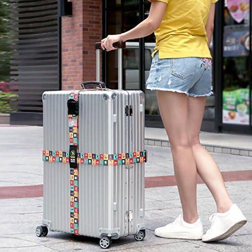 PACK DE 2 sangle de bagages Voyage Sangle valise r/églable -S/écurit/é et Identification De Votre Bagages valise ceinture 5*200 cm