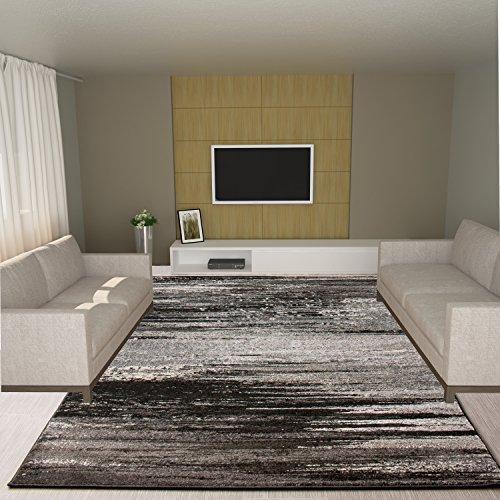 Dark Gray Rug Modern/Contemporary Design 5' 3