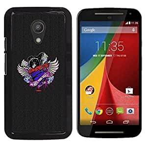 Planetar® ( No Hate Pure Skate Cat Crest ) Motorola Moto G2 II / Moto G (2nd gen) / Moto G (2014) Fundas Cover Cubre Hard Case Cover
