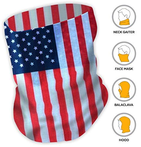 American Flag Bandana/USA Headband/US Bandana - Show Your American Pride - Perfect All Year & July 4th, Memorial & Veterans Day. Wear it When Celebrating, BBQing, Hiking, Fishing. UPF 30 for $<!--$6.95-->