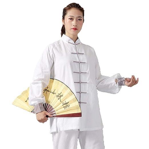 WOLJW Uniforme de Tai Chi de Lino Ropa de Kung Fu Taiji Ropa de ...
